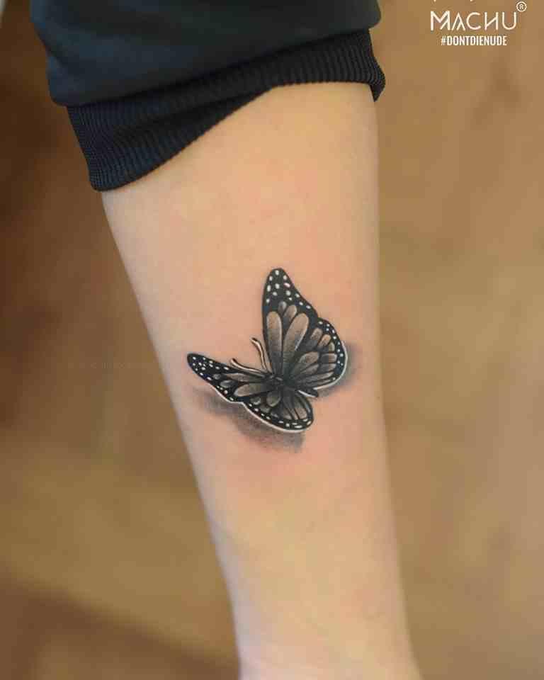 machu-tattoo-bangalore-3D-grey-butterfly