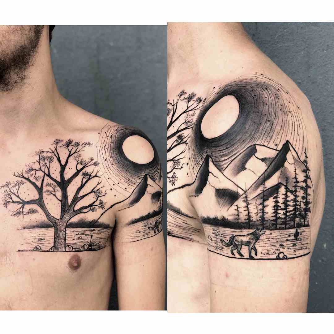 sculp-tattoos-banglore-chest-shoulder-scenery