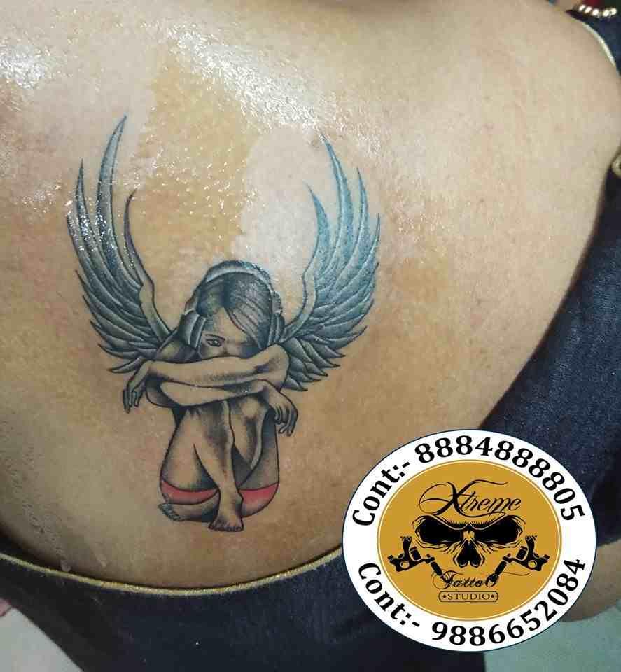 Xtreme-Tattoo-bangalore-back-girl-wings