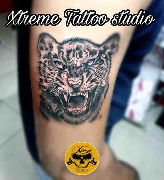 Xtreme-Tattoo-bangalore-back-leopard