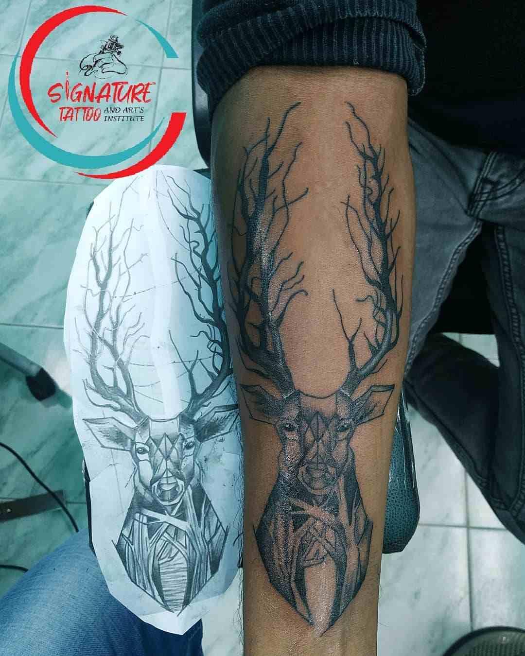 signature-tattoo-chennai-hand-lineart-deer