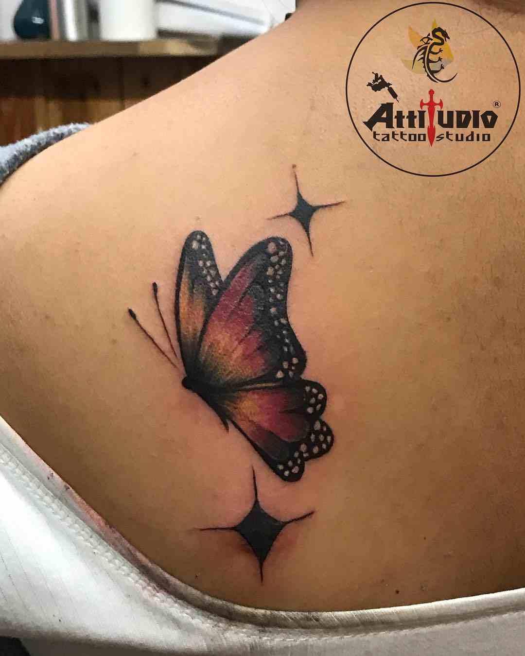 attitudio-tattoo-delhi-back-color-butterfly
