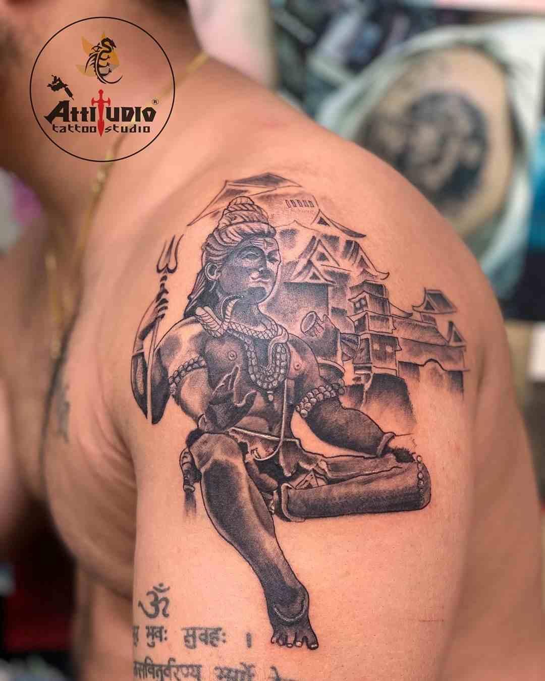 attitudio-tattoo-delhi-shoulder-shiva