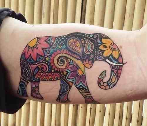 devlis-tattooz-delhi-colorful-abstract-elephant-tattoo