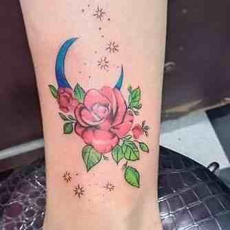 rk-tattooz-delhi-ankel-color-flower-rose