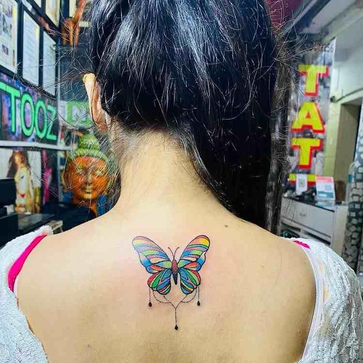 rk-tattooz-delhi-back-color-butterfly