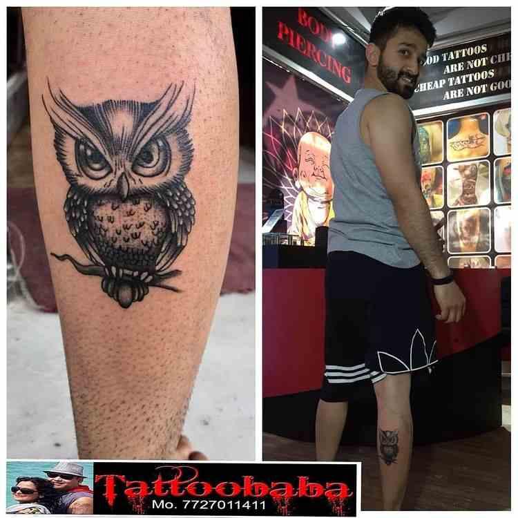 tattoo-baba-jaipur-calf-owl