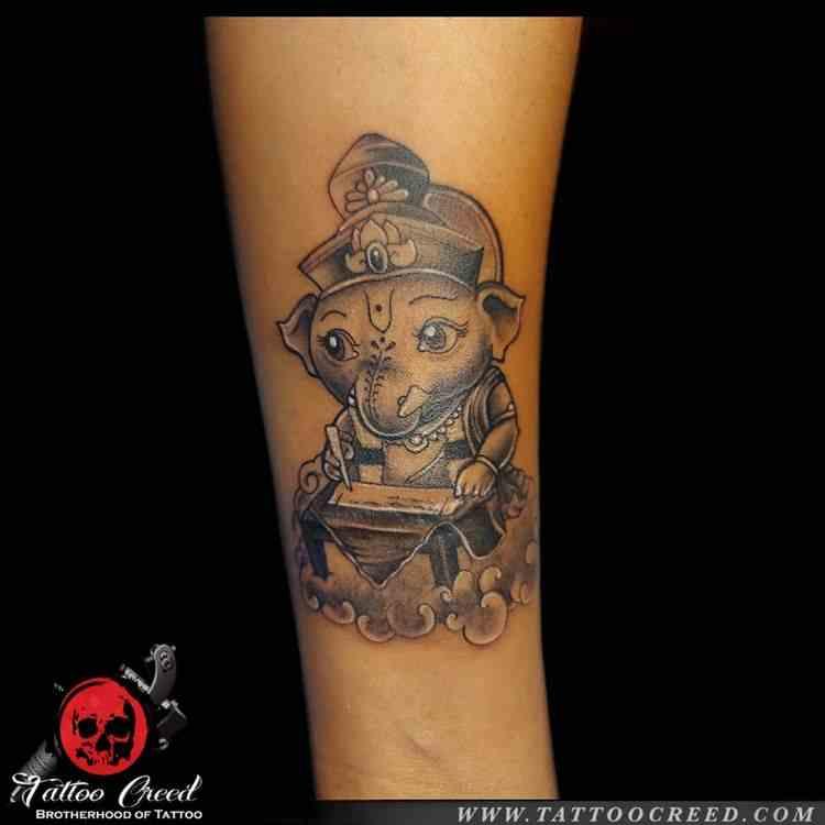 creed-tattoo-studio-kolkatta-baby-ganpati