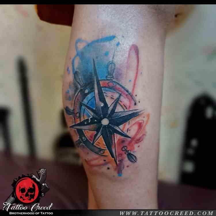creed-tattoo-studio-kolkatta-compass-tattoo