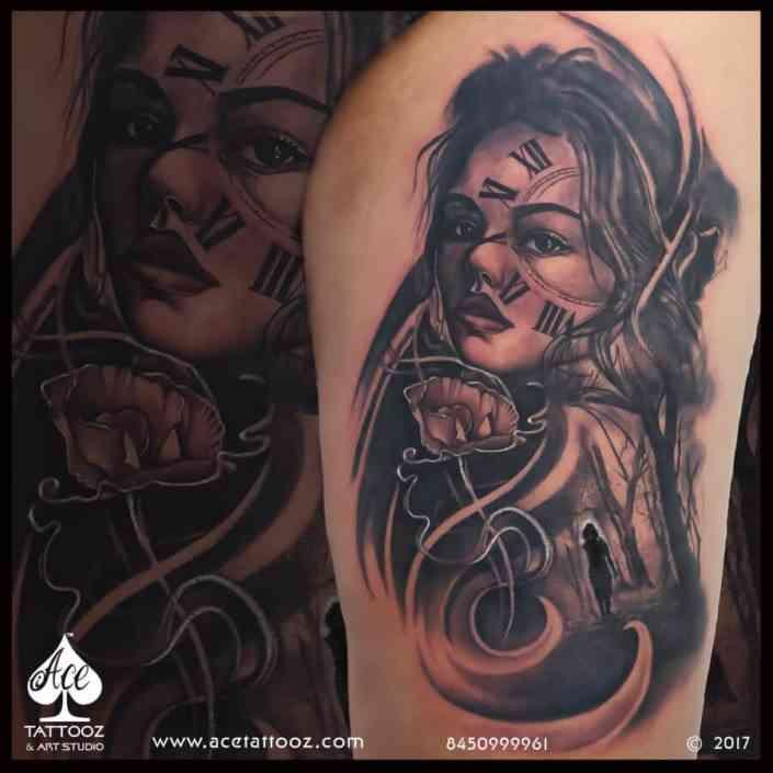 Ace-tattoo-mumbai-Big-Black-and-Grey-3D-Tattoo