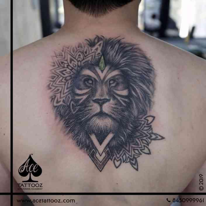 Ace-tattoo-mumbai-Customized-Lion-Tattoo-on-Back