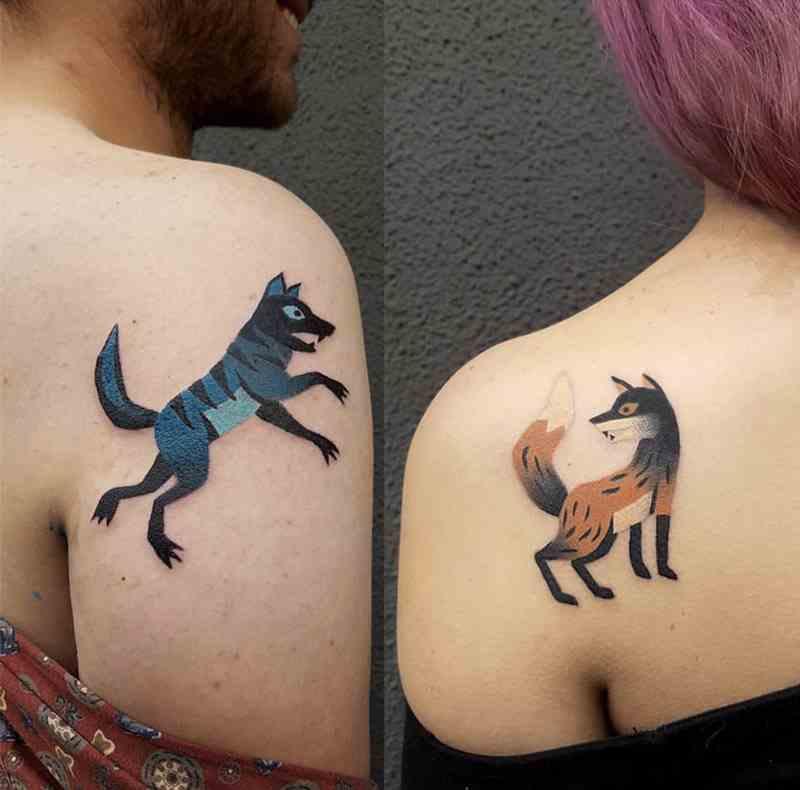 aliens-tattoo-mumbai-abstract-animal-couple-tattoos