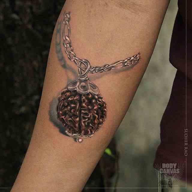 Boday-Canvas-tattoo-mumbai-arm-rudraksh
