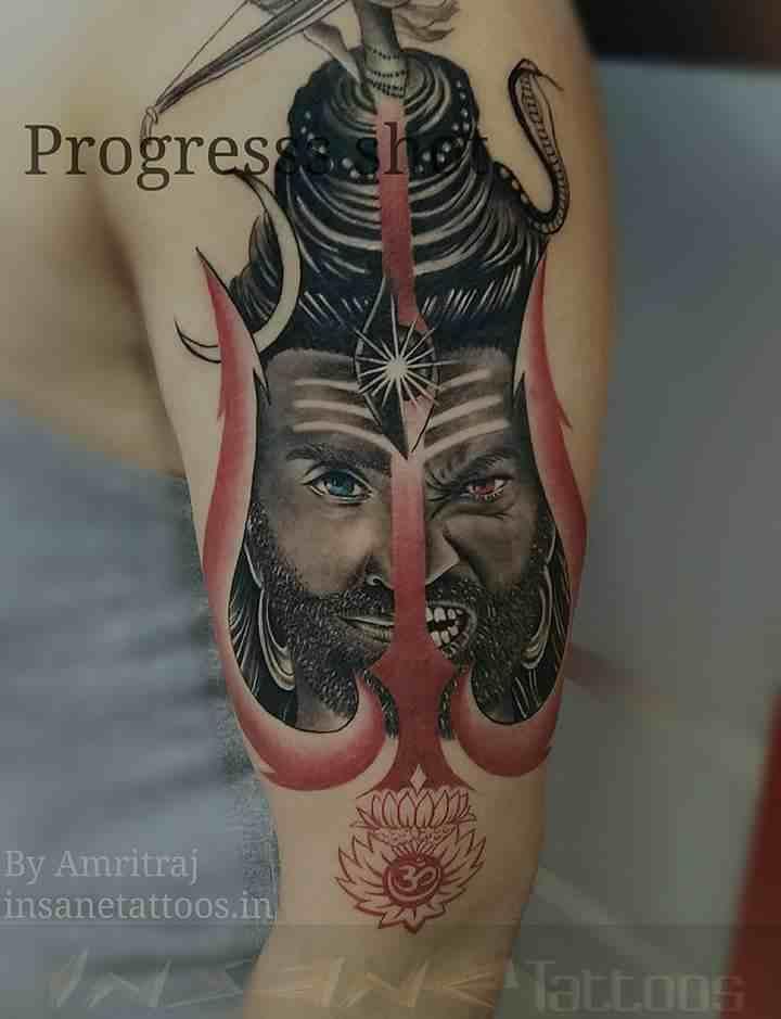 insane-tattoo-mumbai-trident-lord-shiva
