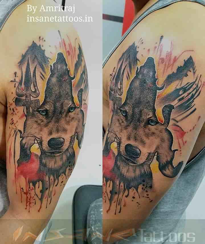 insane-tattoo-mumbai-wolf-lord-shiva