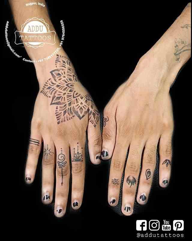 addu-tattoos-nagpur-finger-tattoo
