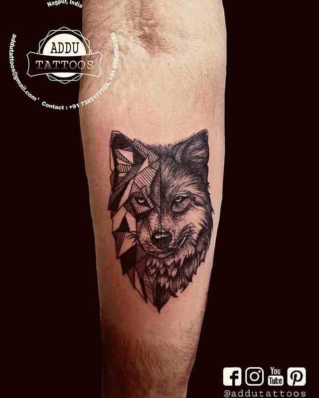 addu-tattoos-nagpur-hand-animal-wolf
