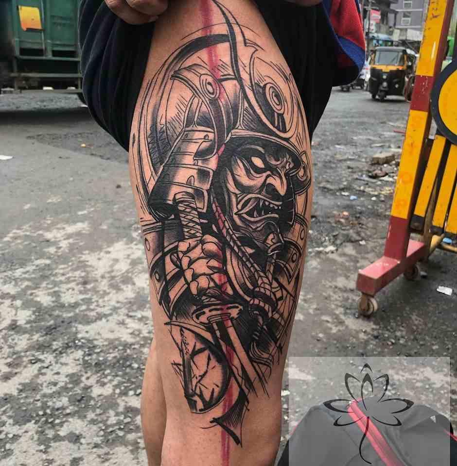 Ink-black-lotus-tattoos-nagpur-evil-warrior
