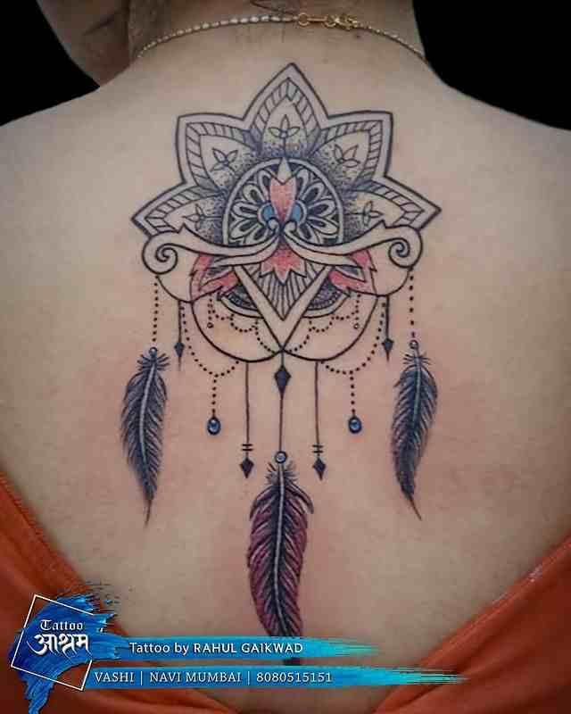 tattoo-ashram-navi-mumbai-back-mandala