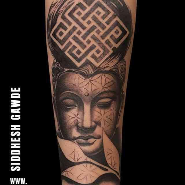 alien-tattoo-pune-buddha-design