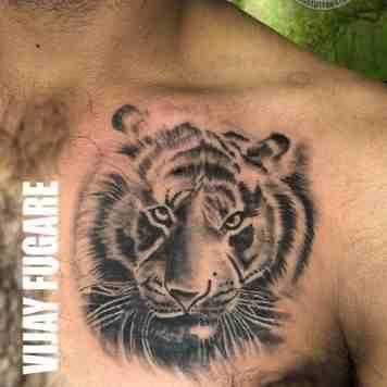 bulls-tattoo-camp-pune-tiger-chest