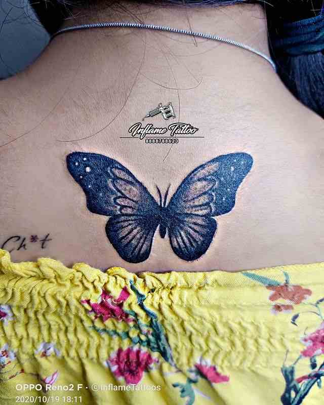 inflame-tattoo-pune-back-butterfly