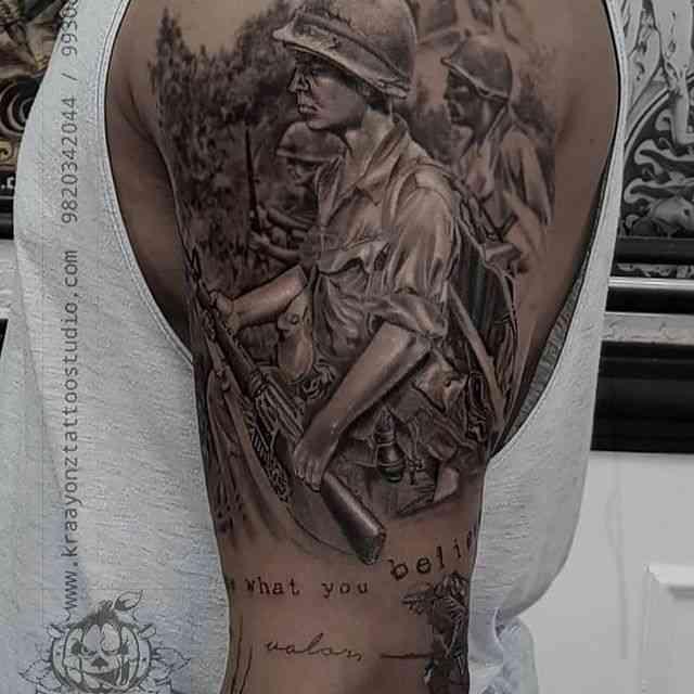 kraayonz-tattoo-studio-pune-army