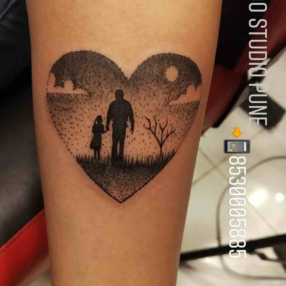 np-tattoo-studio-heart-father-daughter-nature