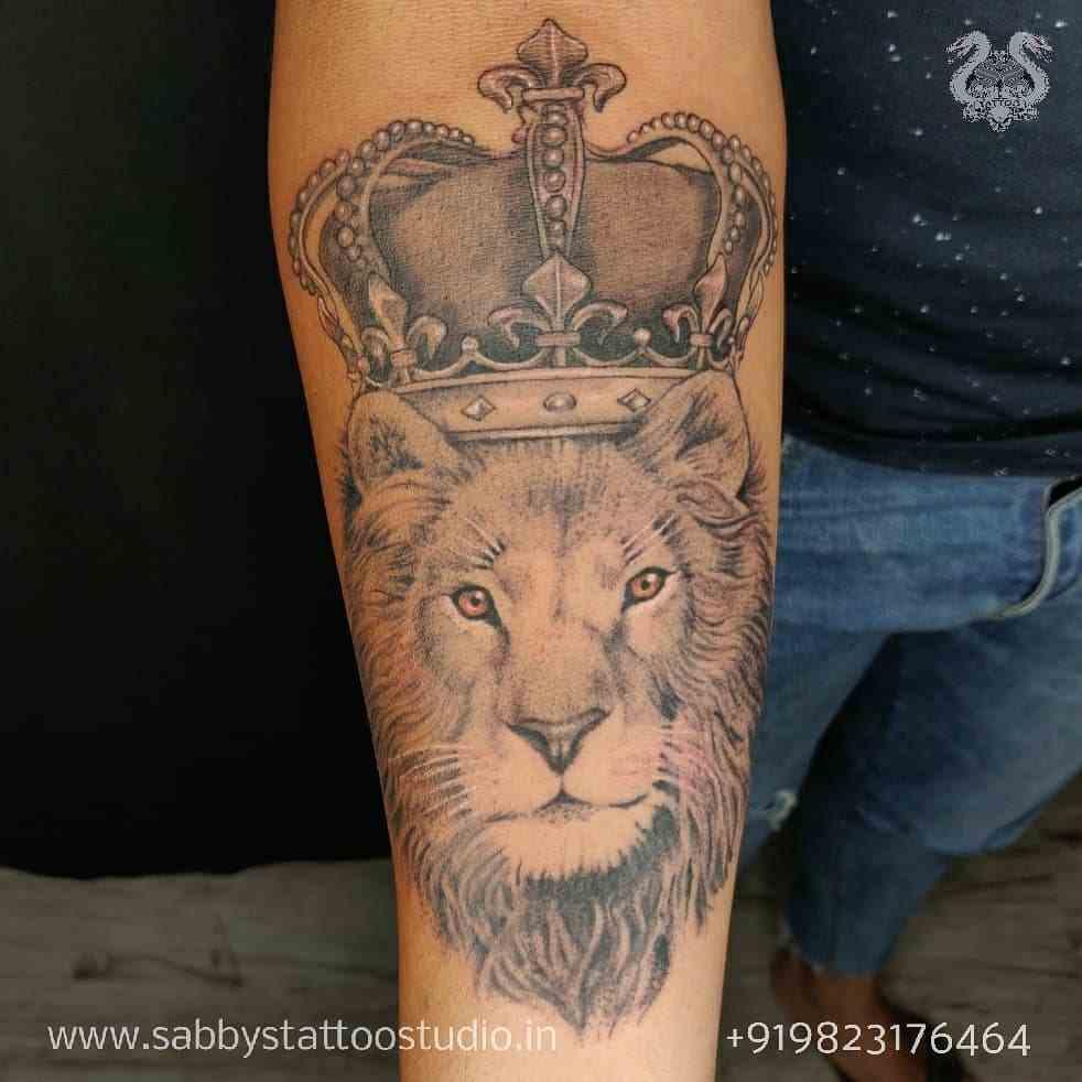 sabbys-tattoo-studio-lion-king-arm-koregaon-park