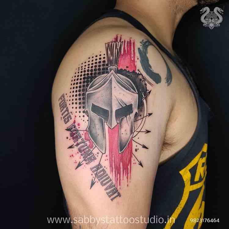 sabbys-tattoo-studio-warrior-arm-koregaon-park