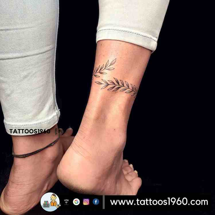 tattoo1960-tattoo-studio-pune-ankel-leaf-band