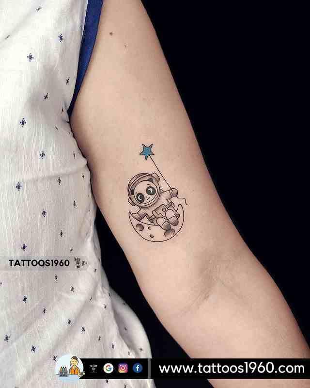 tattoo1960-tattoo-studio-pune-baby-panda-astronaut