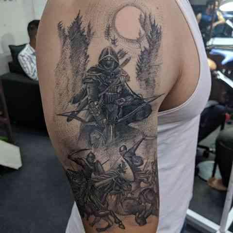kits-tattoo-pune-black-grey-warrior.